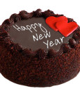 New Year Chocolate Truffle Cake