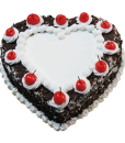 Black forest Heart Shape Cake