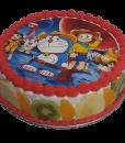 Fresh Fruit Doraemon Cake
