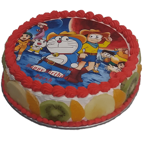 Fresh Fruit Doraemon Cake Price Faridabadcake