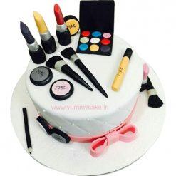 Makeup Birthday Cake for Girls