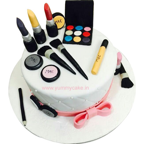 Makeup Birthday Cake for Girls