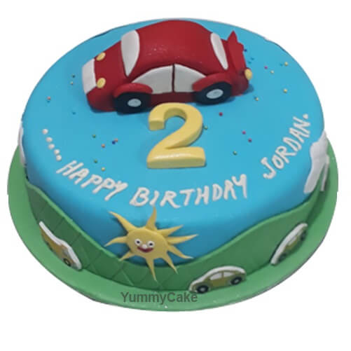 2nd Birthday Cake for Boy Eggless Free Shipping 23 Hours