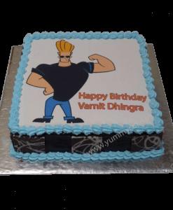 Johnny Bravo Birthday Cake